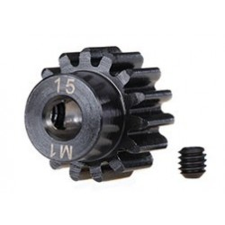Gear, 15-T pinion machined (1.0 metric pitch) (fits 5mm shaft)