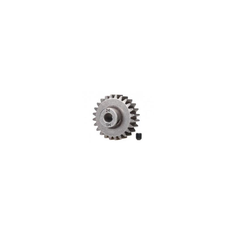 Piñón 24-T Dientes (paso 1.0 métrico) para eje de 5mm. con tornillo de ajuste