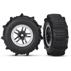 Ruedas completas, ensambladas, neumáticos de pala (2pcs)