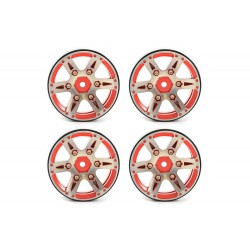 "LLANTAS FASTRAX 1.9"" HEAVYWEIGHT SPLIT 6-SPOKE ALLOY BEADLOCK WHEELS (4PCS)"