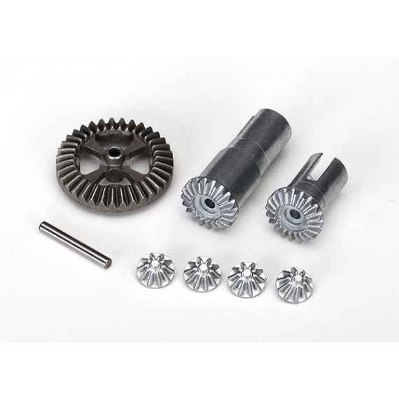 Gear set, differential, metal output gears (2)/ spider gears