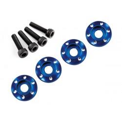 Wheel nut washer machined aluminium blue (4pcs)