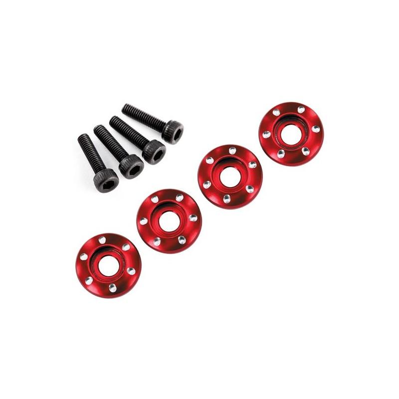Wheel nut washer machined aluminium red (4pcs)