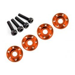 Wheel nut washer machined aluminium orange (4pcs)