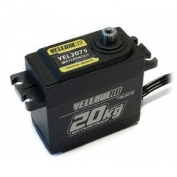 SERVO YELLOWRC DIGITAL, ENGRANAJES DE METAL 20KG. WATERPROOF + EXTENSOR DE CABLE