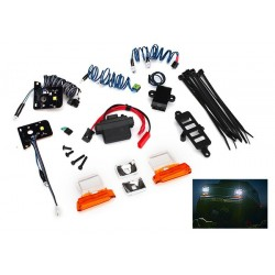 LED light set, complete with power supply (contains headlights, tail lights,