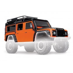 Body, Land Rover Defender, adventure orange (complete with ExoCage, inner fende