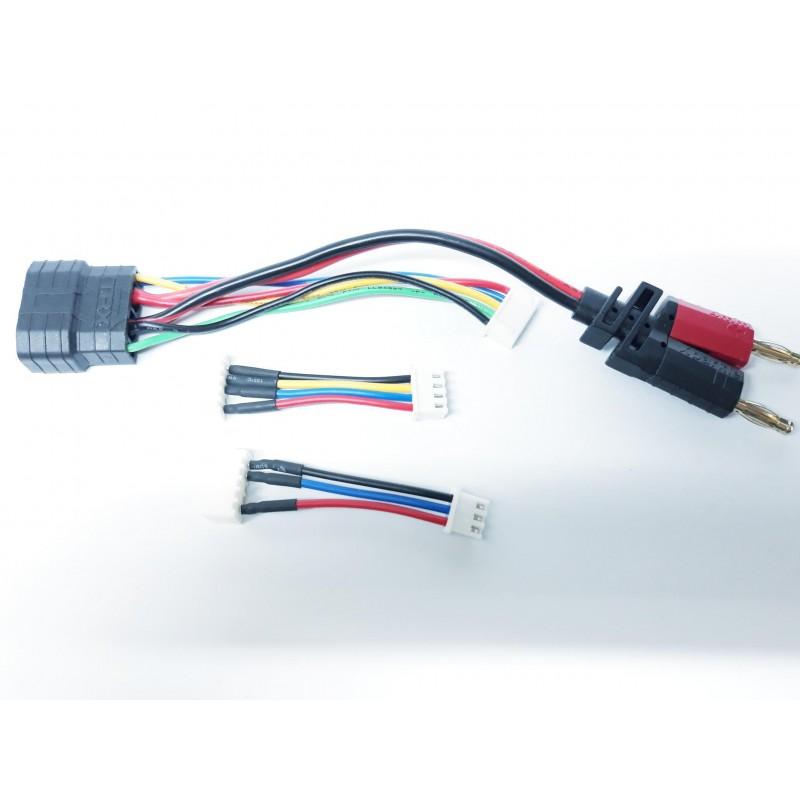Adaptador para Cargar Bateria Lipo ID Traxxas 2S,3S,4S
