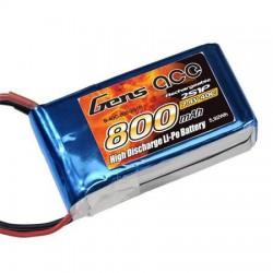 Bateria LIPO Gens Ace 2S 7,4V 40C 800mah JST