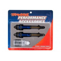 Shocks, GTR xx-long blue-anodized, PTFE-coated bodies with TiN shafts (fully assembled, without springs) (2)