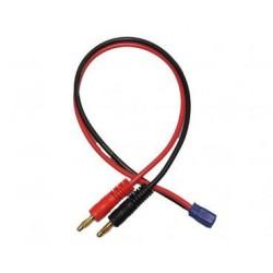Cable Bananas Cargador Baterias conector EC3 30cm