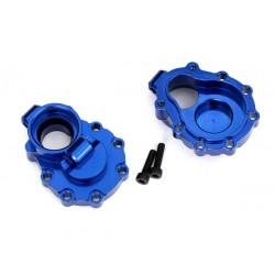 Portal housings, inner (rear), 6061-T6 aluminum (blue-anodized) (2)/ 2.5x10 CS (2)