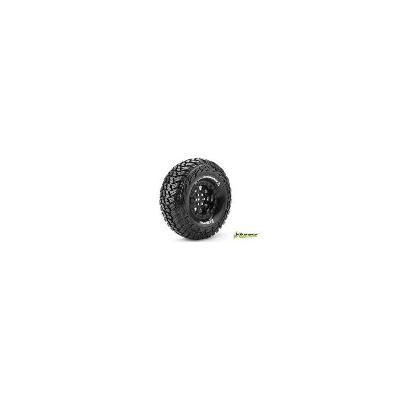 "Louise RC CR-GRIFFIN 1-10 Crawler Tire Set Mounted Super Soft Black 1.9"" Hex 12mm (2pcs)"