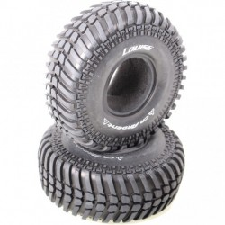 """Louise RC CR-ARDENT 1-10 Scale 1.9"""" Crawler Tires Super Soft Compound / Black Rim / Mounted"""