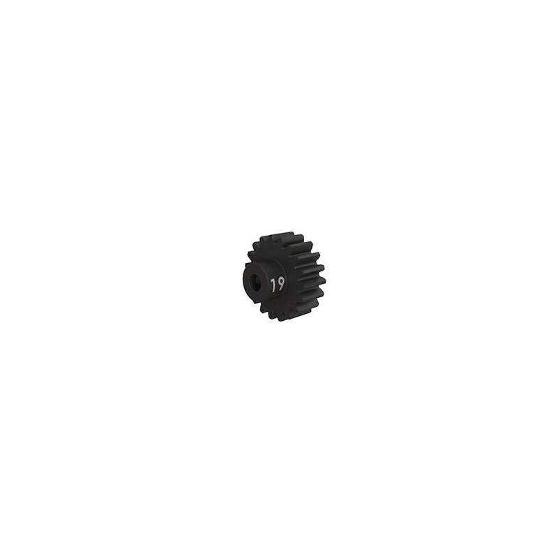 Piñón 19-T Dientes (paso 32p.) para eje de 3mm.(mecanizado, acero endurecido) con tornillo de ajuste