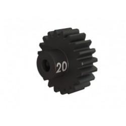 Piñón 20-T Dientes (paso 32p.) para eje de 3mm.(mecanizado, acero endurecido) con tornillo de ajuste