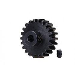 Piñón 22-T Dientes (paso 32p.) para eje de 3mm.(mecanizado, acero endurecido) con tornillo de ajuste