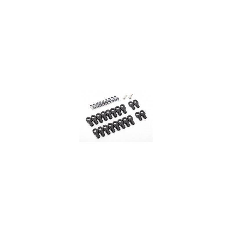 Rod ends (16 long & 4 short)/ hollow ball connectors (18)/ ball screws (2)