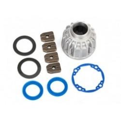 Caja soporte diferencial delantero o central de Aluminio, juntas de aros (2)