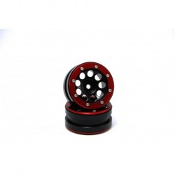 Llantas Metsafil Beadlock Wheels PT- Distractor Black/Red 1.9 (4 pcs)