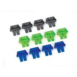 Indicadores de carga de la batería (verde (4), azul (4), gris (4)