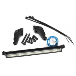 Barra de luces LED, frontal (alto voltaje) (52 LED blancos (doble fila), 100 mm de ancho)