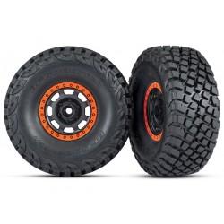 Ruedas completas con talón naranja, neumáticos BFGoodrich® Baja KR3) (2pcs)