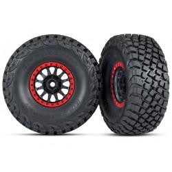 Ruedas complets, con talón rojo, neumáticos BFGoodrich® Baja KR3) (2pcs)