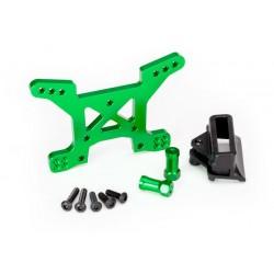 Torreta de amortiguadores delantera, aluminio 7075-T6 (anodizado verde) (1) / soporte de montaje en el cuerpo (1)