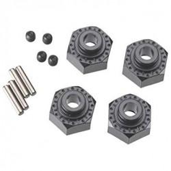 Hexágonos De 12mm Aluminio Negros (4pcs)