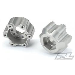 Adaptadores hexagonales de aluminio de 6x30 a 17 mm