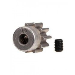 Piñón 10-T Dientes (paso 32p.) (Acero) para eje de 3mm.TRX-4 con tornillo de ajuste,