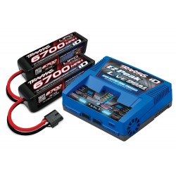 Traxxas Combo 4S (2 Baterías LiPo 4S 6700mah./ 1 Cargador Ez-peak Dual ID)