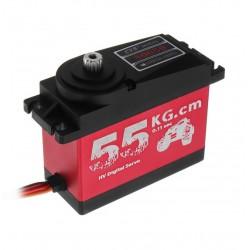 Servo Digital para 1/5 Large 55KG HV High Torque, piñones de metal