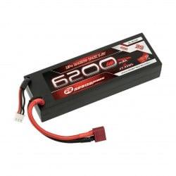 Batería Robitronic LiPo 7,4V. 6200mAh 2S 40C T-Dean