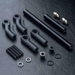 Juego de varillaje de dirección MST aluminio negro CMX / CFX