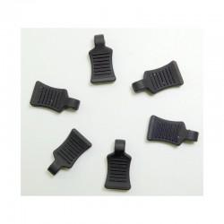 Tiradores de clips de goma Absima- negros (6pcs)