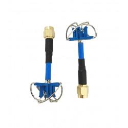 Antenas Aomway 5,8 GHz FPV 4 Leaf Clover AV Transmisión RHCP SMA MACHO (2pcs)