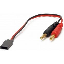 Cable Cargador Baterias con conector Futaba Macho (10 cms aprox)