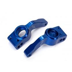 Porta eje, trasero, aluminio 6061-T6, izquierdo y derecho (anodizado azul)
