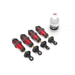 Amortiguadores, aluminio GTR, anodizado rojo (completamente ensamblado sin muelles) (4pcs)