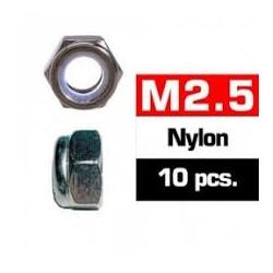 Tuercas autoblocantes 2,5mm inox, Ultimate Racing (10pcs)