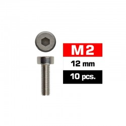 Tornillos de 2x12 cabeza cilíndrica, hexagonal, Ultimate Racing (10pcs)