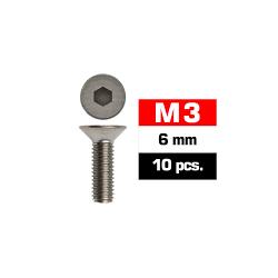 Tornillos M3x6, cabeza de botón, Ultimate Racing (10pcs)