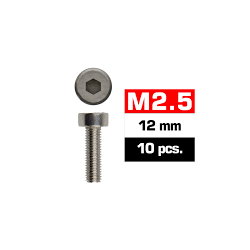 Tornillos de 2.5x12 cabeza cilíndrica, hexagonal, Ultimate Racing (10pcs)