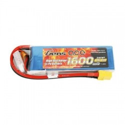 Batería Gens Ace LiPo 1600mAh 7.4V 45C 2S1P XT60 batería