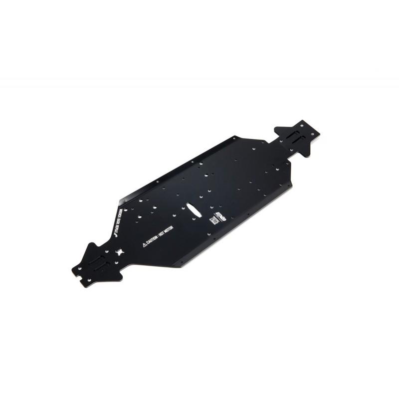 Chasis de aluminio CNC 7075 T6 SWB Negro: EXB