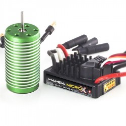 Combo Mamba Micro X Extreme 1:18 con motor 0808-4100KV