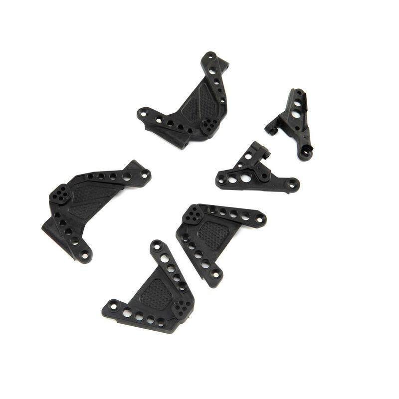 Soportes de amortiguador y barra Panhard, FR / RR: SCX10 III
