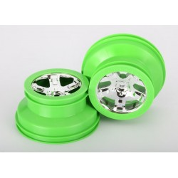 Wheels SCT chrome green beadlock style dual profile (2.